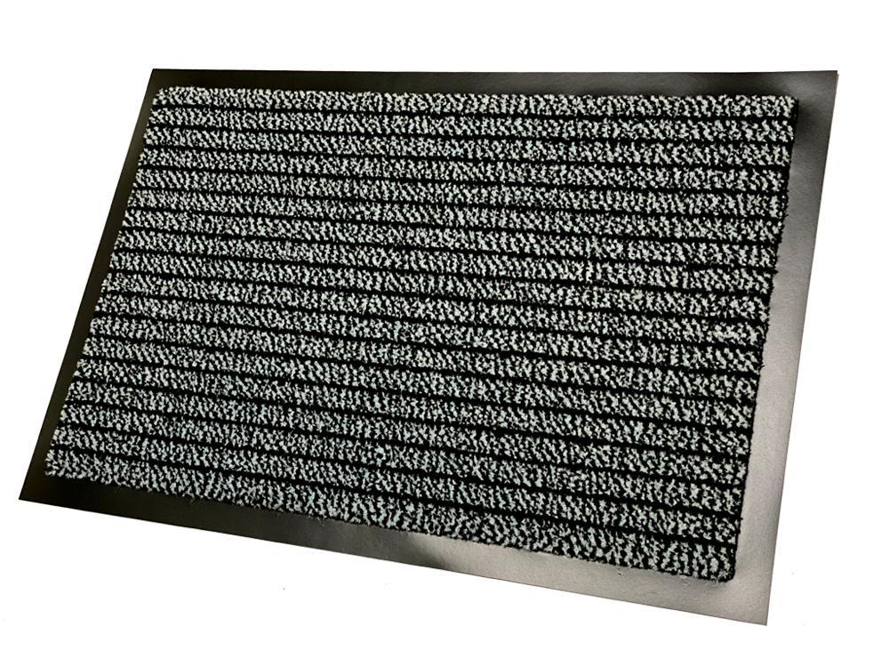 Lábtörlő 40 x 60 cm szürke-fekete