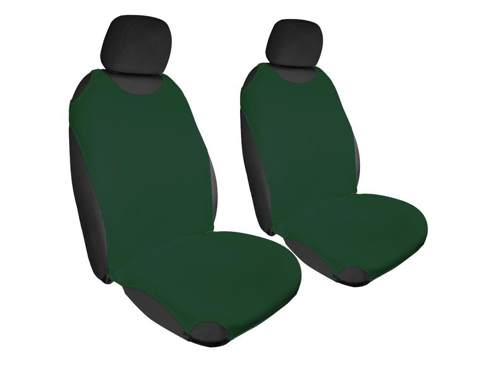 Trikó üléshuzat Univerzális PÁRBAN ZÖLD színben - zöld fejtámlával