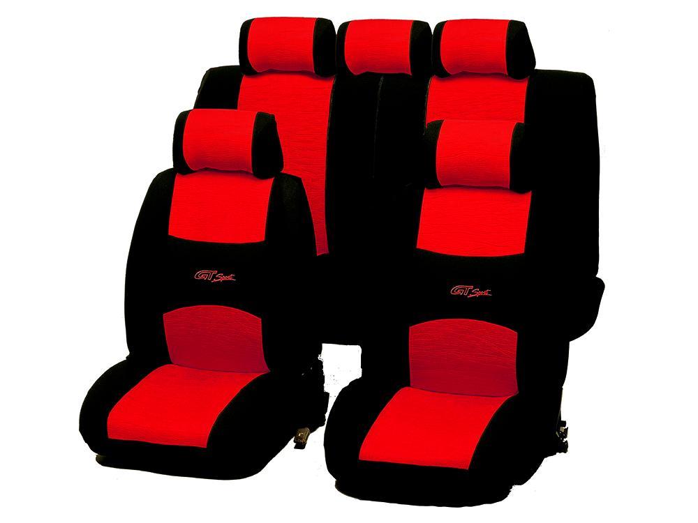 Univerzális üléshuzat GT Sport 5 személyes piros színben