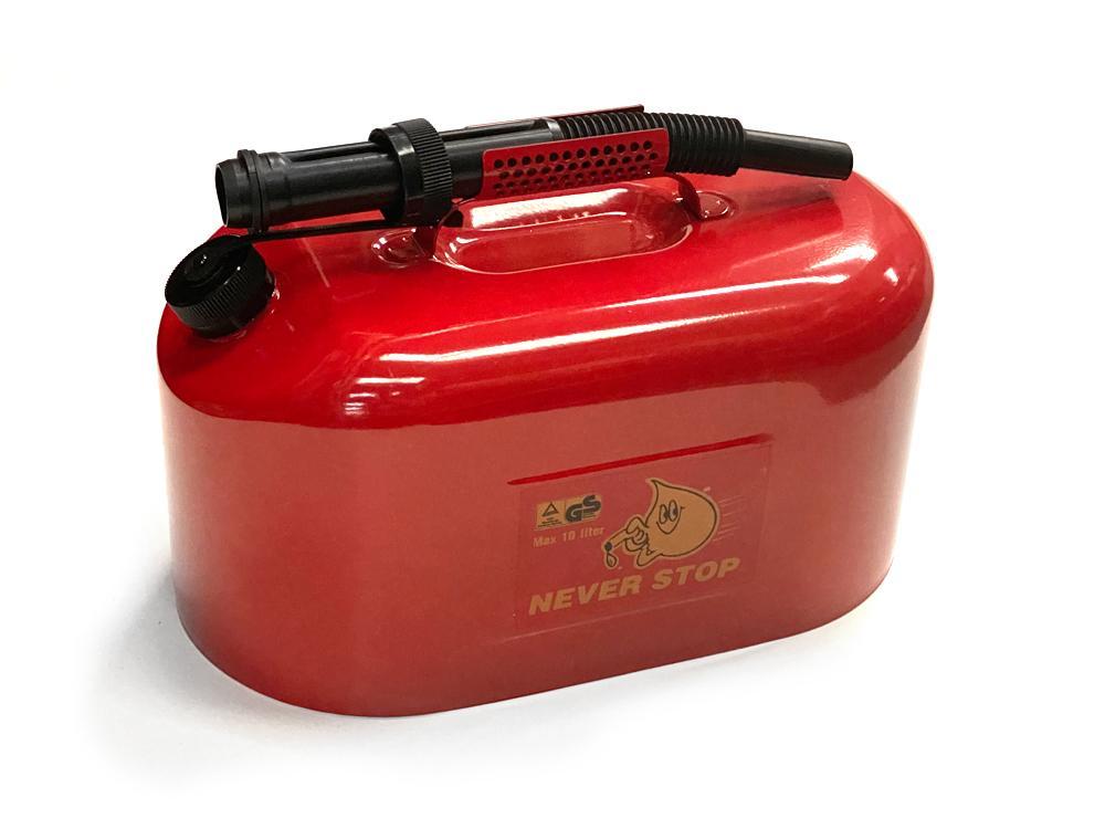 Üzemanyag kanna fém 10 literes piros