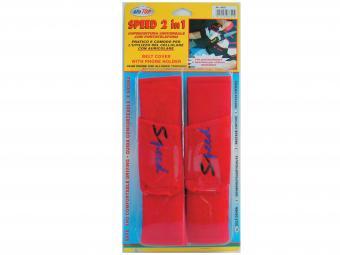 Biztonsági öv párna Speed telefontartóval piros színben 6852 (PÁR)