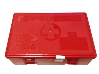 """Elsősegély felszerelés """"B"""" típusú HU tartalommal mentődobozban BETADINNAL személygépjárművekhez /KöHÉM/"""