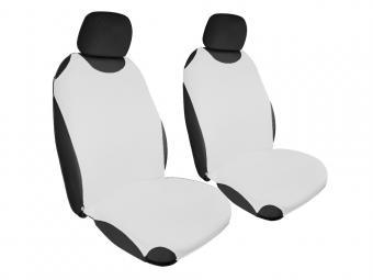 Trikó üléshuzat Univerzális PÁRBAN FEHÉR színben - fehér fejtámlával