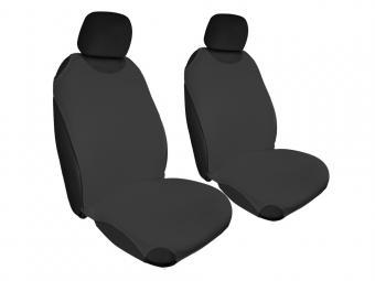 Trikó üléshuzat Univerzális PÁRBAN FEKETE színben - fekete fejtámlával