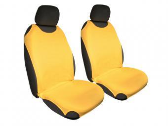 Trikó üléshuzat Univerzális PÁRBAN SÁRGA színben - sárga fejtámlával