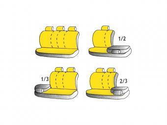 Univerzális üléshuzat GT Sport 5 személyes sárga színben